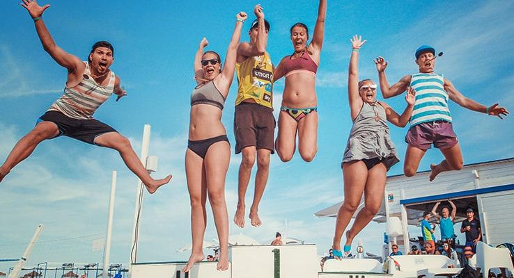 Beachvolleyturneringar på Sunsation Beach
